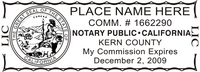 CA-NOTARY-1 - California Notary Stamp